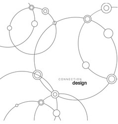 technology abstract dot and circle connection vector image