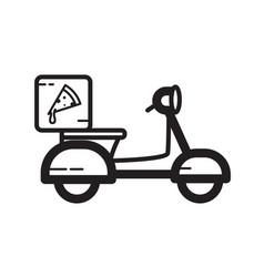 Thin line delivery pizza icon vector