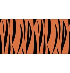 Tiger skin seamless pattern vector image