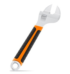 tool screw wrench 02 vector image vector image