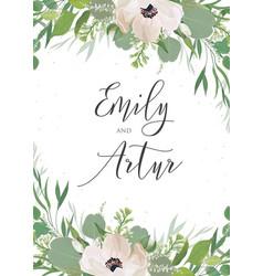 wedding invitation invite save the date card vector image