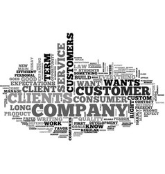 What does the consumer want text word cloud vector