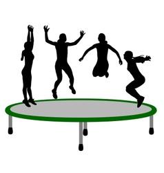 Woman trampoline vector