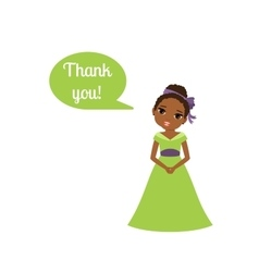 Princess with speech bubble Thank you vector image