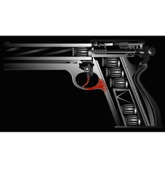 gun against drugs vector image