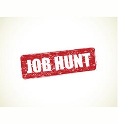 Job hunt vector