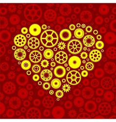 Gears heart vector