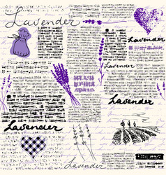 lavender retro background vector image