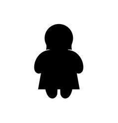 Woman basic figure icon vector