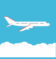 airplane in the sky commercial airplane in side vector image
