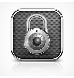 Padlock icon on white vector