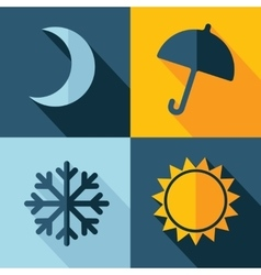 Weather set icon eps10 vector
