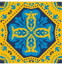 A colorful portuguese azulejo tile vector