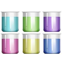 Liquid mixture in glass beaker vector image