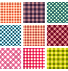 Abstract seamless square pattern set vector
