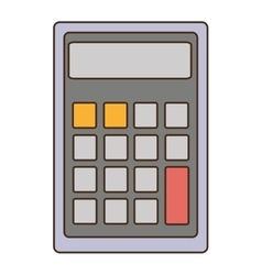 grey calculator with square buttons graphic vector image