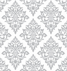 Seamless damask stencil pattern wall background vector