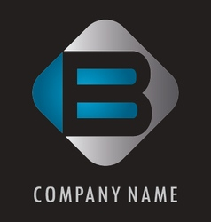 B business logo vector image vector image