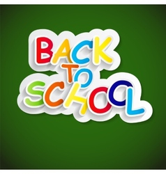 Back to school label concept vector