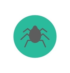 Bug silhouette icon vector image vector image