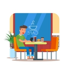 Cafe design element with vector