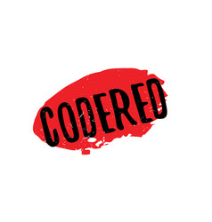 Codered rubber stamp vector