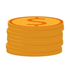 Coins with dollar sign icon vector
