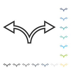 Divide arrow left right icon vector