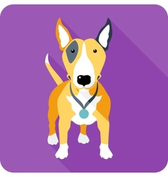 dog icon flat design vector image vector image