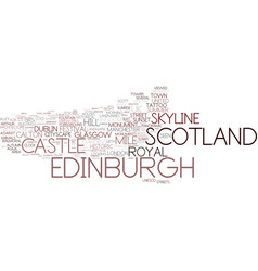 Edinburgh word cloud concept vector