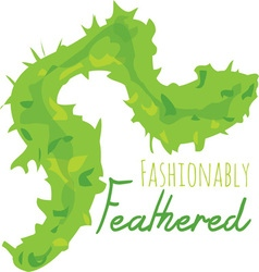 Fashionably feathered vector