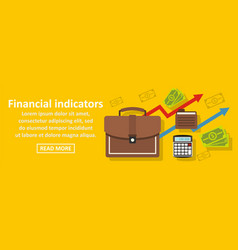 financial indicators banner horizontal concept vector image vector image