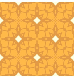 Floral ornamented pattern with geometric motifs vector image vector image