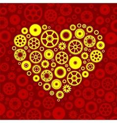 Gears heart vector