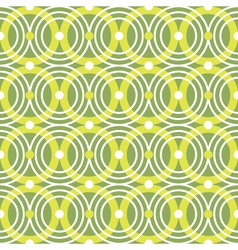 Green circles seamless pattern vector image