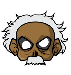 Halloween paper mask - scientist zombie vector