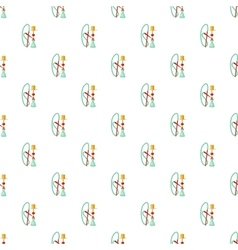 Hookah pattern cartoon style vector image