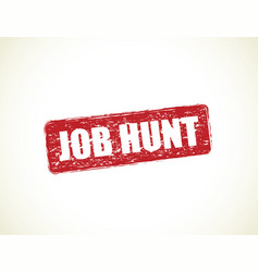Job hunt vector