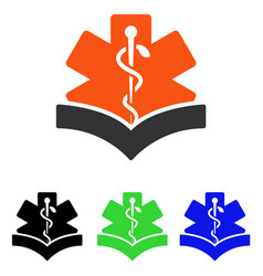 Medical knowledge flat icon vector