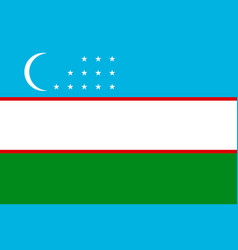 national flag of uzbekistan republic vector image