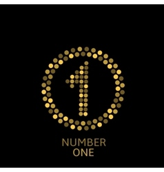 Number One vector image vector image