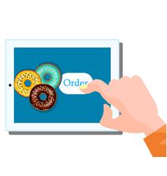 online food order donut vector image