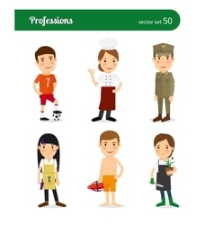 Profession and occupation vector image