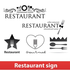 Restaurant sign vip vector image vector image