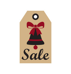 sale new year badge and bell vector image vector image