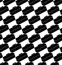 Seamless pattern background of toolbox vector image vector image