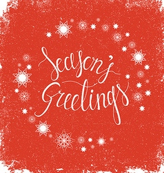 Seasons greetings vector image