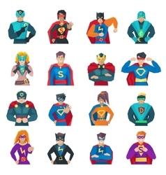 Superhero Icons Set vector image vector image