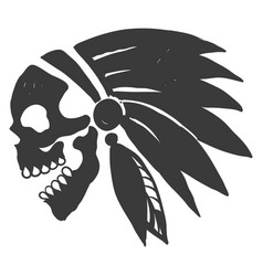 tattoo indian skull vector image vector image