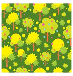 Tree Object Icons Seamless Pattern vector image